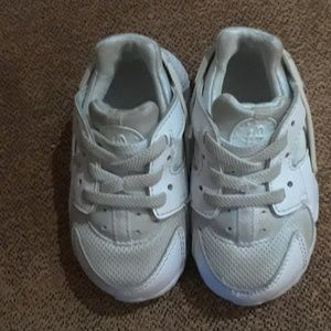Nike Air Huarache Toddler White Sneakers Shoes